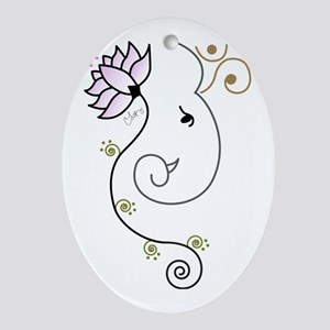 Ohm Ganesha Oval Ornament