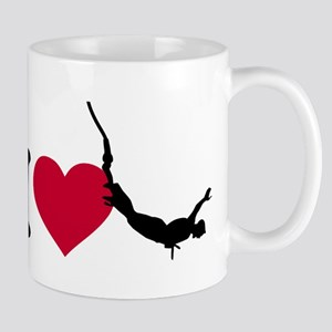 I love bungee jumping Mug