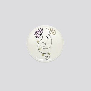 Ohm Ganesha Mini Button