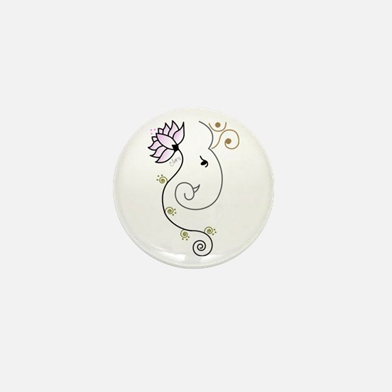 Ohm Ganesha Mini Button