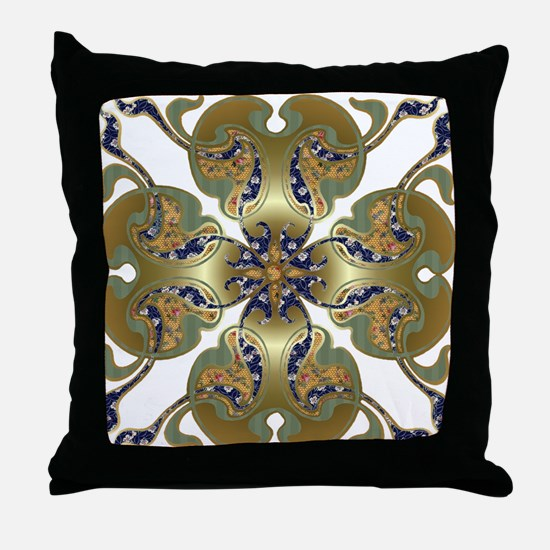 Kimono Bells Throw Pillow