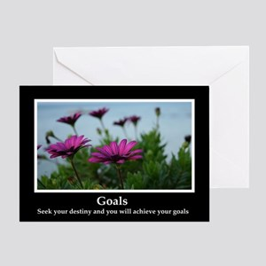 Goals Inspirational Greeting Card