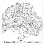 Friends of Zumwalt Park Square Car Magnet 3