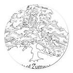 Friends of Zumwalt Park Round Car Magnet