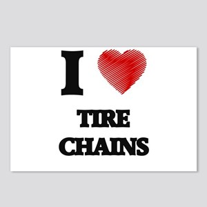 I love Tire Chains Postcards (Package of 8)