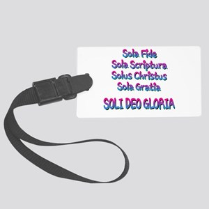 The Five Solas Luggage Tag