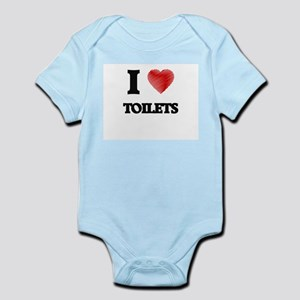 I love Toilets Body Suit