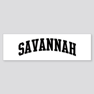 SAVANNAH (curve) Bumper Sticker