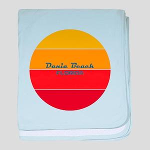 Florida - Dania Beach baby blanket