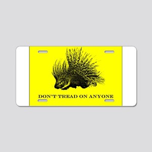 """""""Don't Tread On Anyone"""" Aluminum License Plate"""