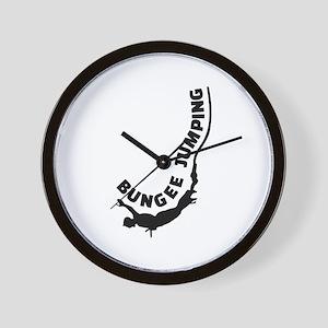 Bungee jumping Wall Clock