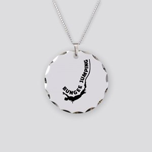 Bungee jumping Necklace Circle Charm