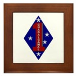 1st Marine Division Framed Tile