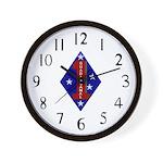 1st Marine Division Wall Clock