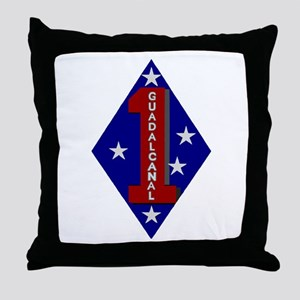 1st Marine Division Throw Pillow