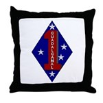 1st Marine Division Throw Pillow