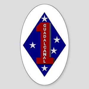 1st Marine Division Oval Sticker