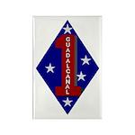 1st Marine Division Rectangle Magnet (100 pack)