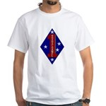 1st Marine Division White T-Shirt
