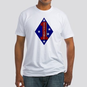 1st Marine Division Fitted T-Shirt