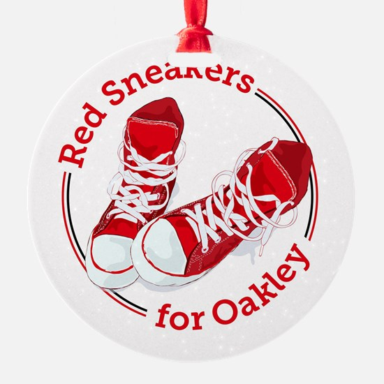 Red Sneakers For Oakley Ornament