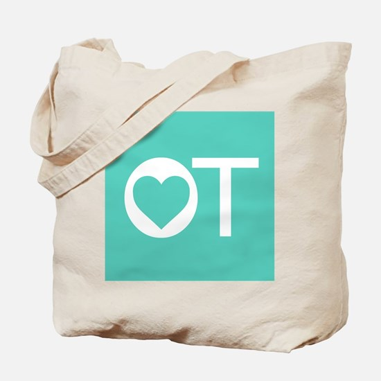 OT Occupational Therapy Heart Tote Bag