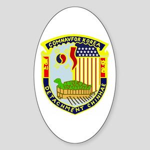 CNFK Det Chinhae Oval Sticker