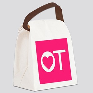 OT Occupational Therapy Heart Canvas Lunch Bag
