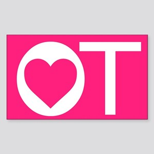 OT Occupational Therapy Heart Sticker