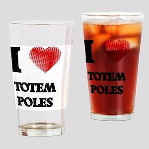 I love Totem Poles Drinking Glass