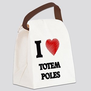 I love Totem Poles Canvas Lunch Bag