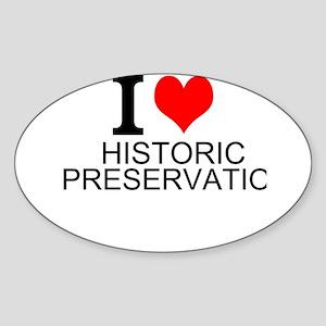 I Love Historic Preservation Sticker