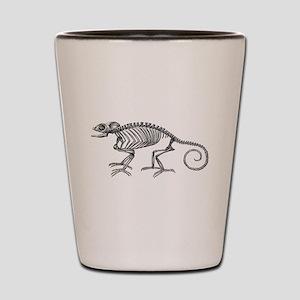 Vintage Chameleon Lizard Skeleton Lizar Shot Glass