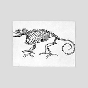 Vintage Chameleon Lizard Skeleton L 5'x7'Area Rug