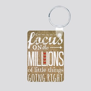 Millions Aluminum Photo Keychain