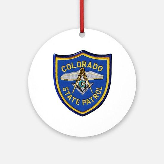 Colorado State Patrol Mason Round Ornament
