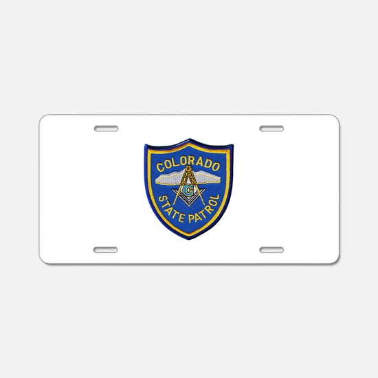 Colorado State Patrol Mason Aluminum License Plate