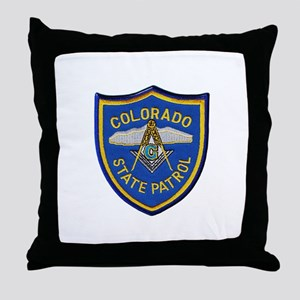 Colorado State Patrol Mason Throw Pillow