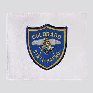 Colorado State Patrol Mason Throw Blanket