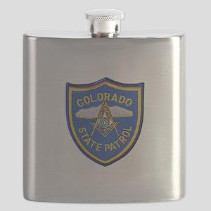 Colorado State Patrol Mason Flask