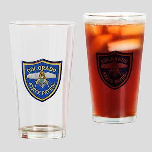 Colorado State Patrol Mason Drinking Glass