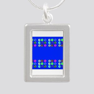 Soccer Desiger Blue Football Futbol 23a Necklaces