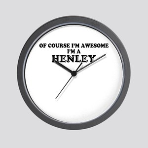 Of course I'm Awesome, Im HENLEY Wall Clock