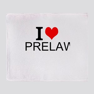 I Love Prelaw Throw Blanket