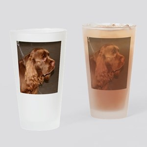 sussex spaniel Drinking Glass