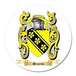 Seares Round Car Magnet