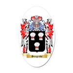 Seagrave Oval Car Magnet