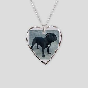 staffordshire bull terrier full Necklace