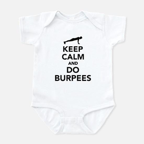 Keep calm and do burpees Infant Bodysuit