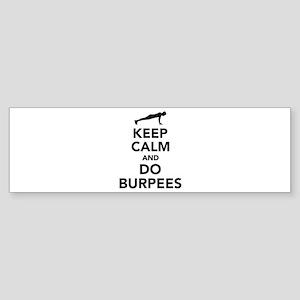 Keep calm and do burpees Sticker (Bumper)